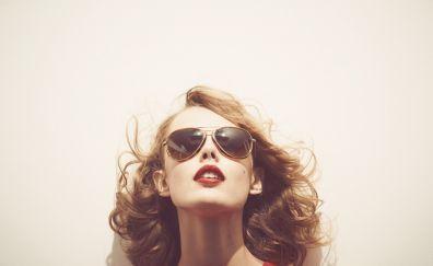 Frida Gustavsson, face, sunglasses