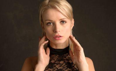 Ekaterina Enokaeva, blonde model, face