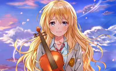 Kaori Miyazono, anime girl, crying