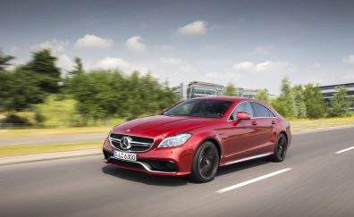 Mercedes-Benz CLS-Class, Red luxury car