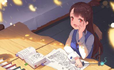Atsuko Kagari, Little Witch Academia, reading books