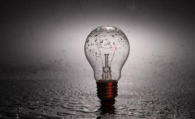 Bulb, drops, surface