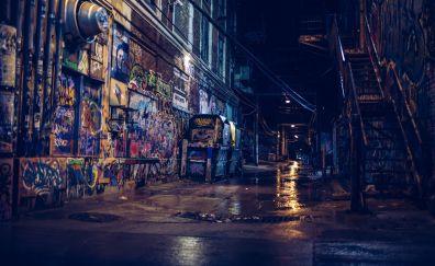 City street in night