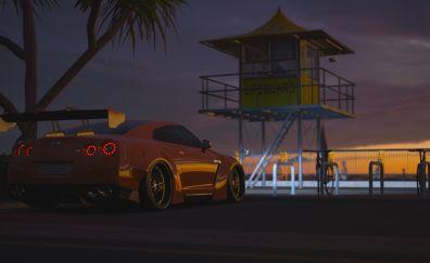 Forza Horizon 3, Nissan sports car, night