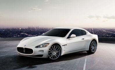 White Maserati car