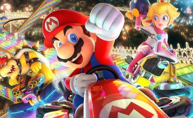 Mario Kart 8 Deluxe, video game, Mario