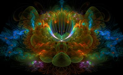 Fractal, abstract, pattern, colorful design