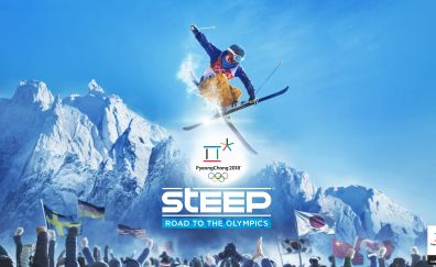 Steep: Road to the Olympics, video game, 2017 game, 4k