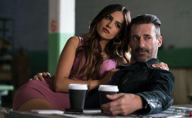 Baby Driver, movie, Eiza Gonzalez, Jon Hamm, 5k