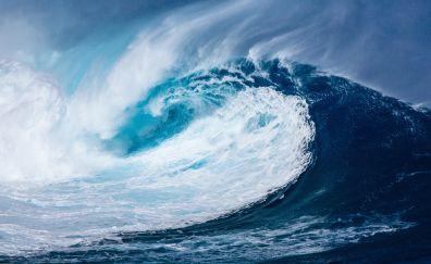 Big Sea waves, blue sea