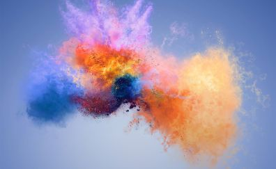Colorful splash, explosion, Huawei Honor 7X, stock