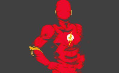 The Flash, superhero, minimalist, red
