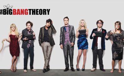 The Big Bang Theory, tv show, cast, 4k