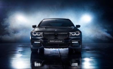 Bmw 7 series, black ice edition, 2017 car, 4k