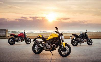 2017 bike, Ducati Monster 821, 4k