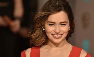 Emilia clarke, smiling, cute actress, 4k