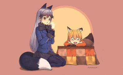 Kemono friends, anime girls, anime