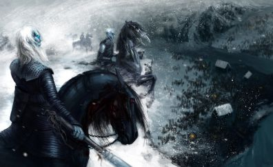 Night king, game of thrones, white walkers, fan art