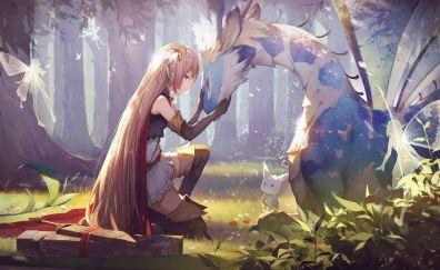 Shadowverse, video game, blonde anime girl