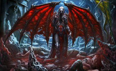 Wings, vampire, fantasy, art