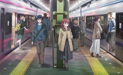 Railway station, Just Because!, anime