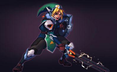 The Legend of Zelda, Link, warrior, modern, armour suit, crossover, video game