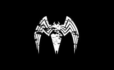 Venom, logo, minimal, 5k