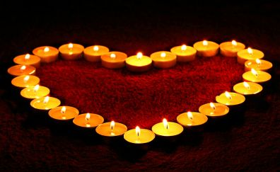 Love, heart, Candles