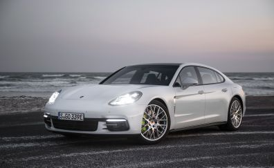 Porsche Panamera E-Hybrid, executive car, 4k