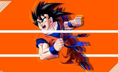 Angry goku, glitch artwork, dragon ball super