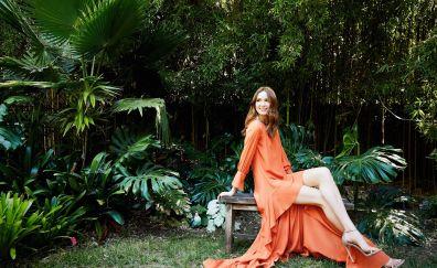 Smile, outdoor, Karen Gillan, celebrity, 4k