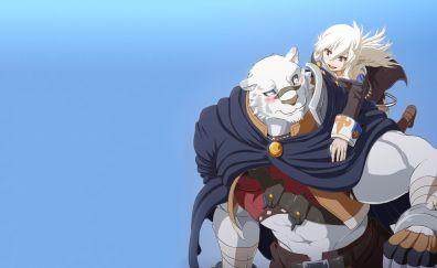 Anime, couple, Zero kara Hajimeru Mahou no Sho, beast