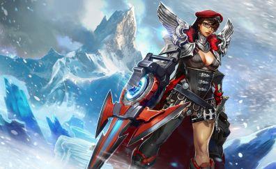 Catherine, girl warrior, vainglory, video game, warrior, 4k