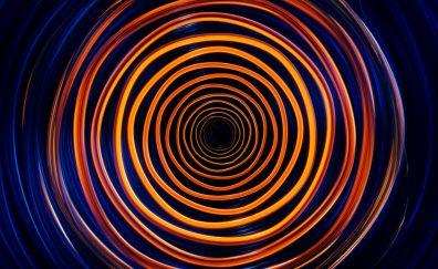 Spiral, circles, waves, abstract
