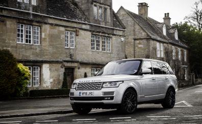 White SUV car, Range Rover