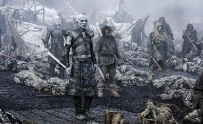 White walkers, game of thrones, winter, zombie, tv series