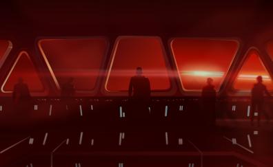 Star Wars: The Force Awakens, movie, kylo ren, fan art, digital art