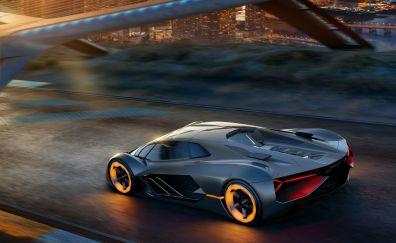 Lamborghini Terzo Millennio, sports car, 2017, 4k