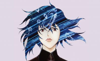 Motoko Kusanagi, Ghost in the Shell, anime girl, face