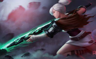 Riven, league of legends, online game, art