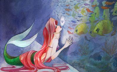 The Little Mermaid, 1989 movie, cartoon, fish, art