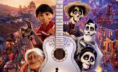 Coco, keyart, movie, violin, poster