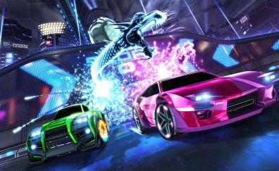 Car, race, rocket league