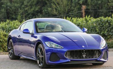 Blue, sports car, Maserati GranTurismo, car