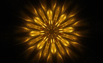 Abstract, mandala, golden glow