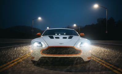 Aston Martin V12 Vantage S, sports car, front, headlight, 2017, 5k