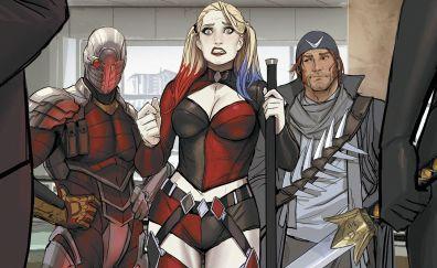 Captain boomerang, deadshot, harley quinn, suicide squad, dc comics