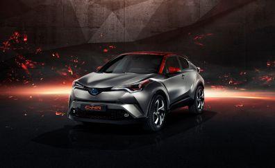 Toyota C-HR Hy-Power Concept, 2017 car, Frankfurt motor show, 4k