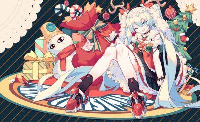 Hatsune miku, christmas gifts, long hair