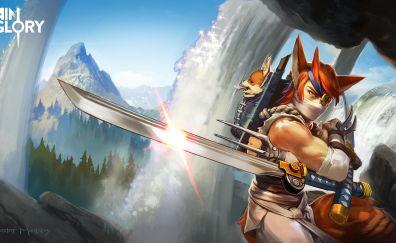 Taka, warrior, vainglory, video game, 4k